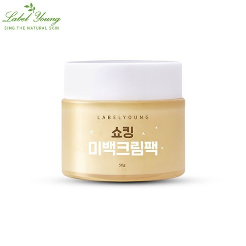 Label Young Shocking Whitening Cream Pack 50g.