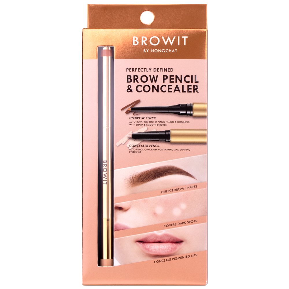 BROWIT BY NONGCHAT Perfectly Defined Brow Pencil & Concealer 0.08g.+0.05g.