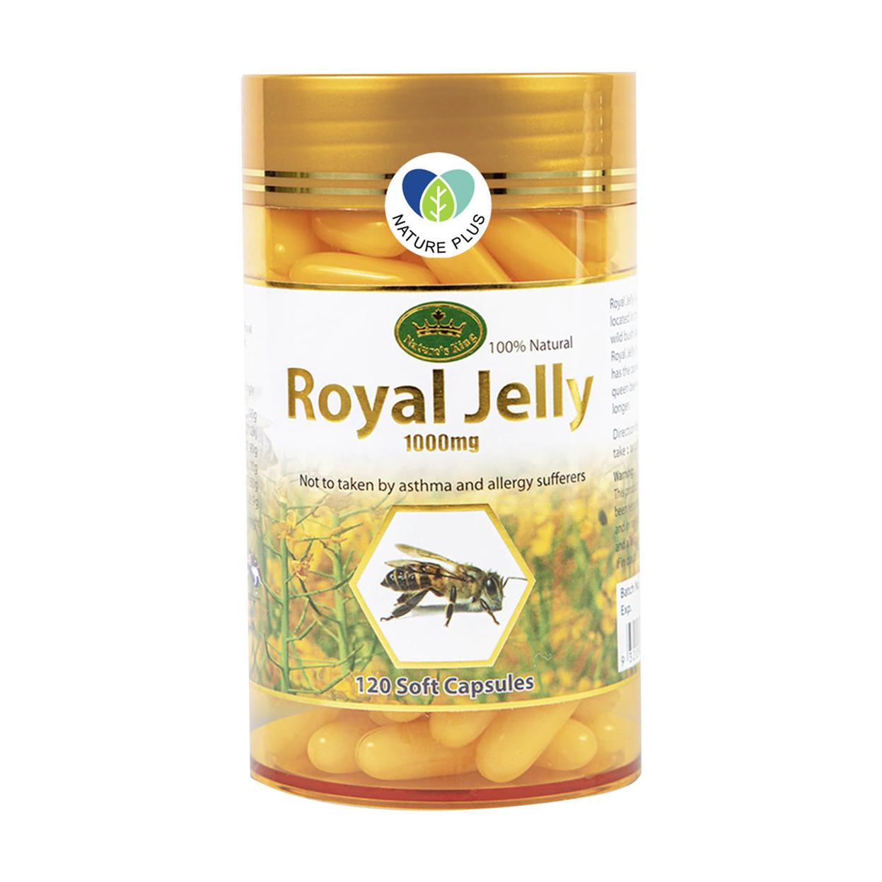 Nature's King Royal Jelly นมผึ้ง 1000mg (120เม็ด)