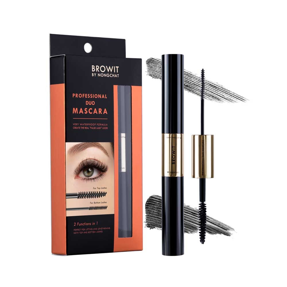BROWIT BY NONGCHAT Professional Duo Mascara 4+4g Browit #Sexy Black