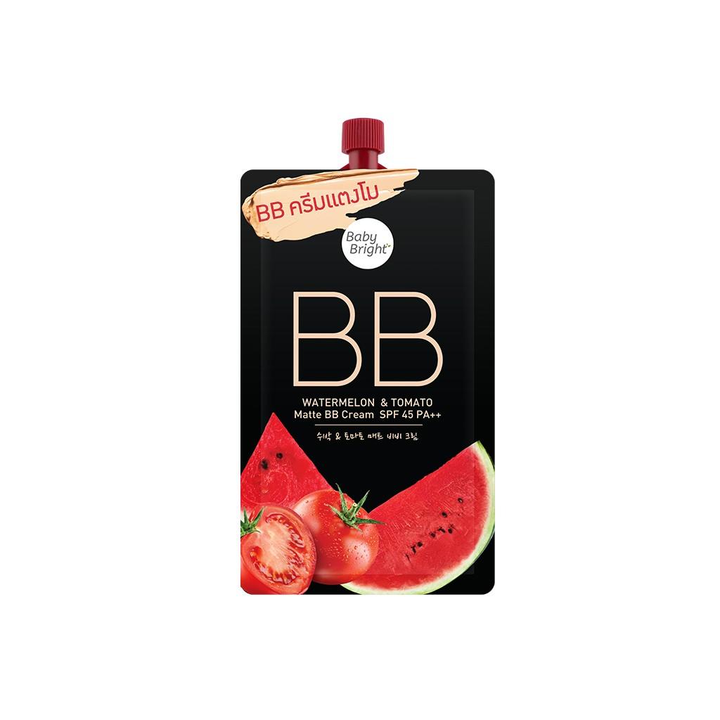 BABY BRIGHT Watermelon Tomato Matte BB Cream (ซอง)