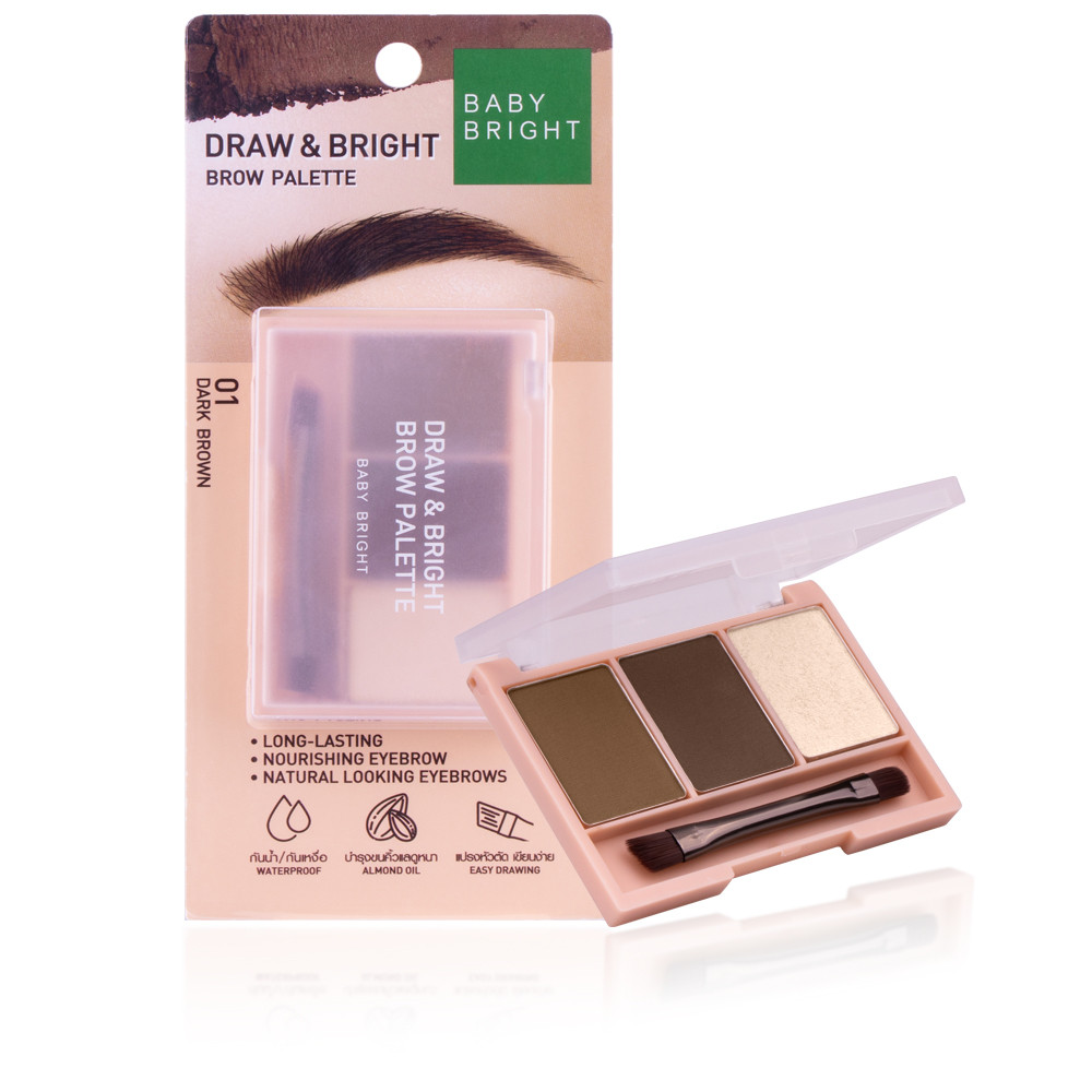 BABY BRIGHT Draw & Bright Brow Palette
