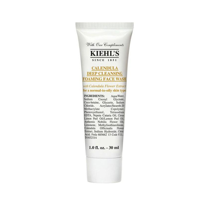 KIEHL'S Calendula Deep Cleansing Foaming Face Wash (30ml)