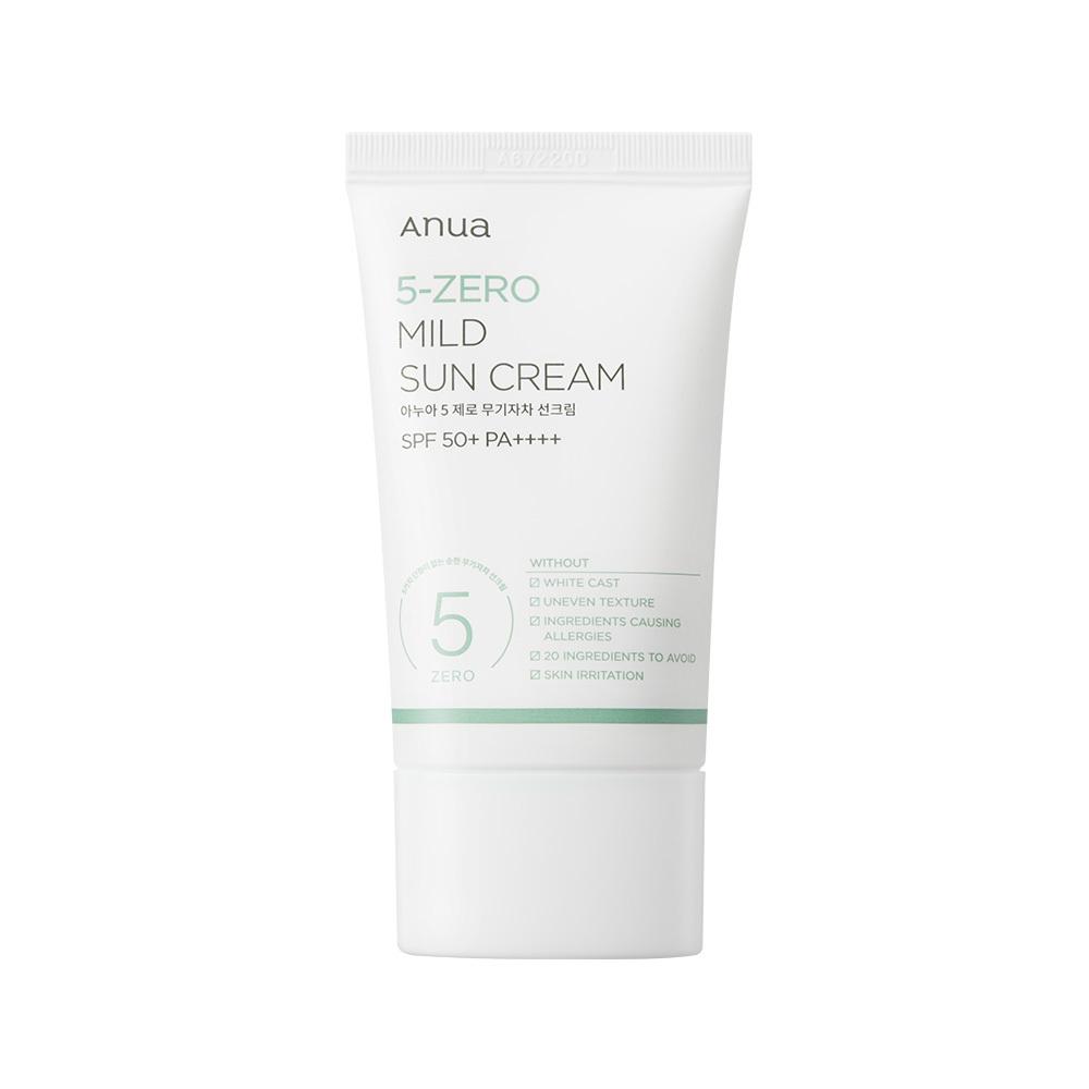 ANUA 5-Zero Mild Sun Cream กันแดดพี่จุน (50ml)