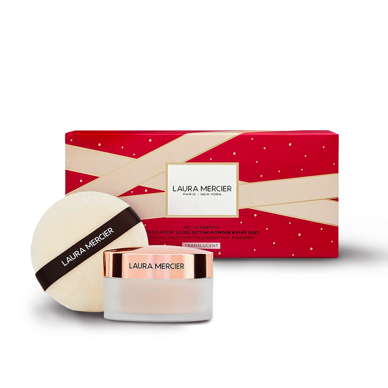 Laura Mercier Loose Setting Powder Translucent + Puff Holiday Set (Limited Edition 2020) 29g